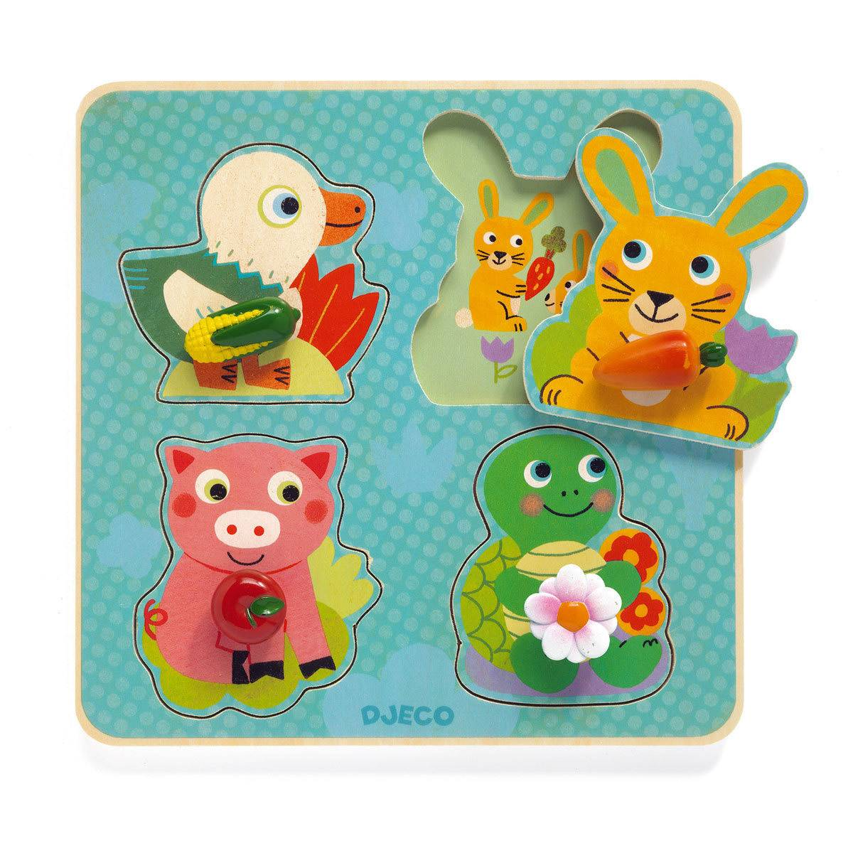 Djeco Croc-Carrot Puzzle Gros Boutons