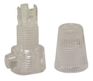 Girard et Sudron Serre-câble transparent avec vis blocage et Fem. 10*1mm