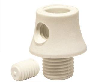 Girard et Sudron Serre-câble nylon blanc avec vis blocage et pas 10*1mm