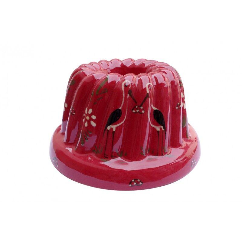 poterie Siegfried Burger Soufflenheim Kouglof cigogne rouge 4 tailles disponibles