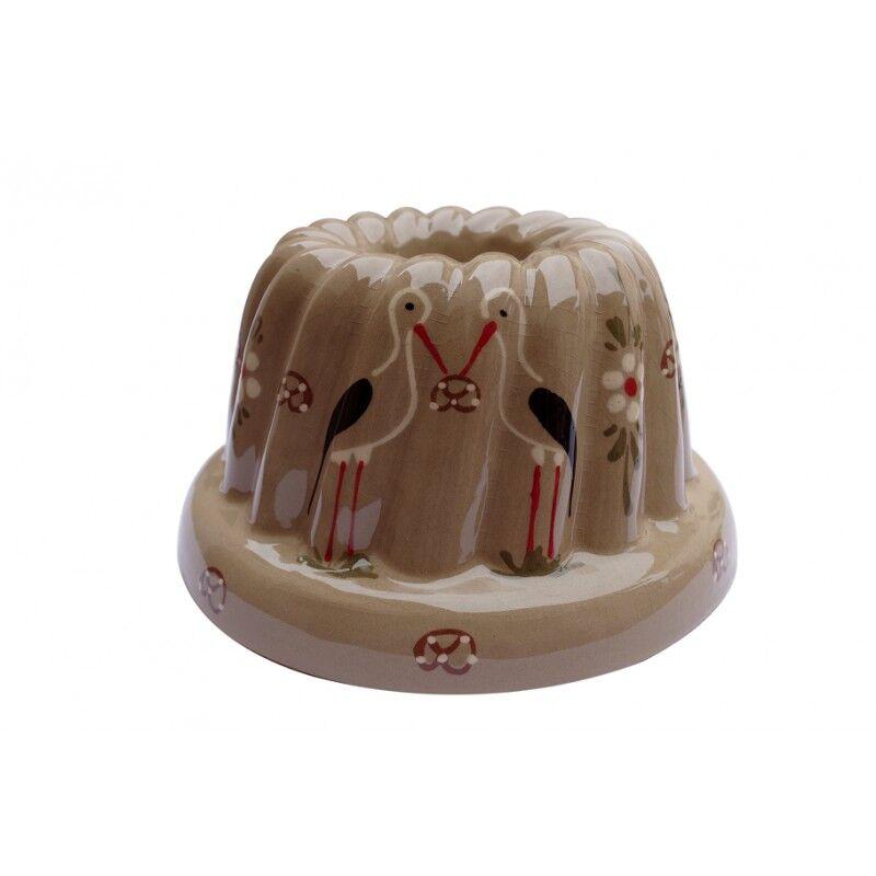 poterie Siegfried Burger Soufflenheim Kouglof cigogne gris 4 tailles disponibles