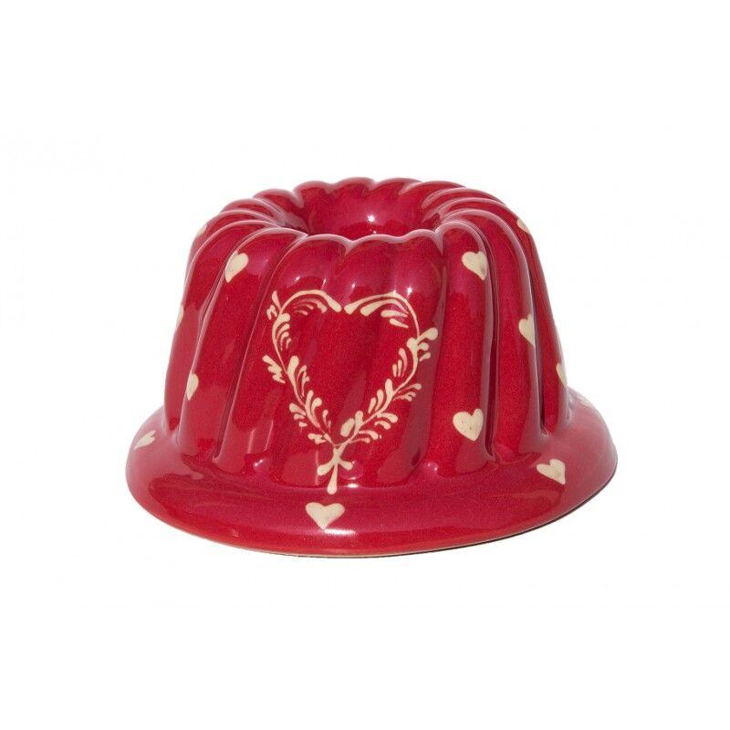 poterie Siegfried Burger Soufflenheim Kouglof coeur rouge 3 tailles disponibles