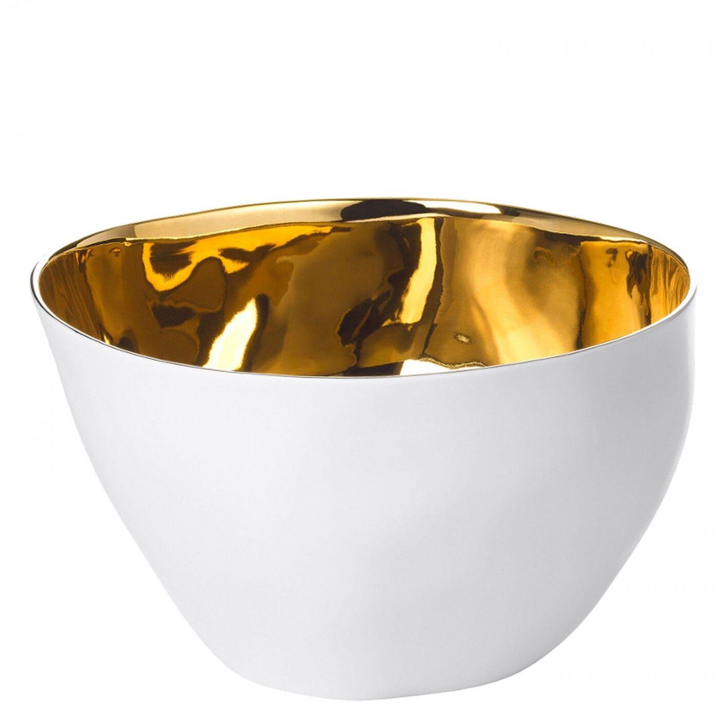 Tsé & Tsé Associées Grand Bol Affamé Porcelaine Blanc Brillant et Or Diam 16 cm Tsé & Tsé