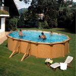 gre  Gre Piscine hors sol acier aspect bois 610x375x132 avec renforts Kit... par LeGuide.com Publicité