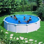 gre  Gre Piscine hors sol acier blanc 350 x 132 Kit piscine hors sol paroi... par LeGuide.com Publicité