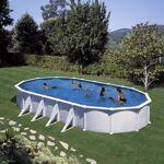 gre  Gre Piscine hors sol acier ovale blanc 915x470x132 avec renforts Kit... par LeGuide.com Publicité