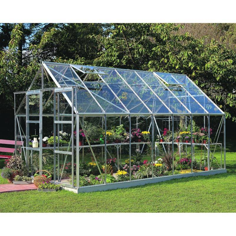 Halls Serre de jardin 11,5m² en verre horticole Magnum - Halls