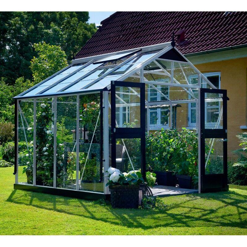 Juliana Serre de jardin 8,8m² aluminium et verre trempé Premium - Juliana