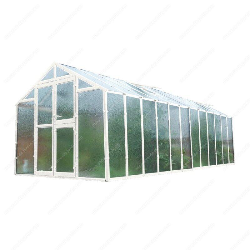 Limes Serre de jardin 249x604cm 15,04m² verre cathédrale 4mm PRIMUS - Limes