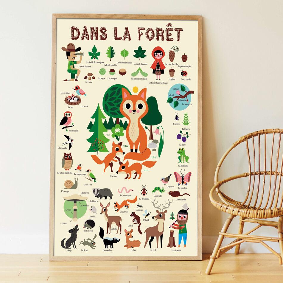 POPPIK Poster géant 60 stickers Forêt - POPPIK