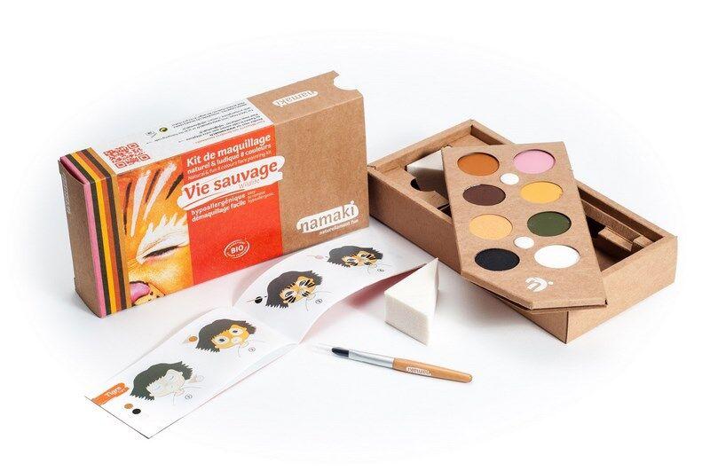 NAMAKI Kit de Maquillage 8 couleurs Vie sauvage - NAMAKI