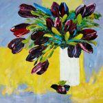 MATHI DESIGN Tableau Tulipes Noires Multicolore Tableau représentant... par LeGuide.com Publicité