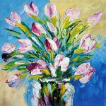 MATHI DESIGN Tableau bouquet rose Multicolore Tableau représentant un... par LeGuide.com Publicité