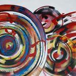 MATHI DESIGN Tableau abstrait Vinyl Tableau design abstrait dans un style... par LeGuide.com Publicité