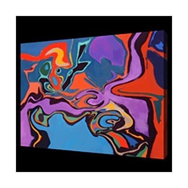 MATHI DESIGN Tableau abstrait coloré Fields Multicolore