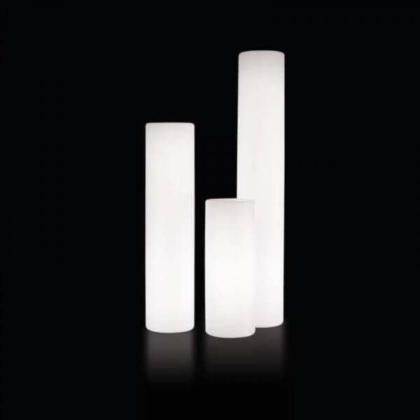 Slide Cylindre lumineux d'extérieur Slide Blanc