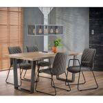 MATHI DESIGN MANGO - Table repas bois massif et acier Marron Table de... par LeGuide.com Publicité