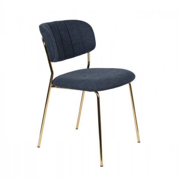 MATHI DESIGN BELLAGIO - Chaise de repas bleu nuit Bleu