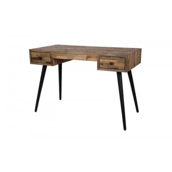 MATHI DESIGN HUT - Bureau en bois vintage Marron