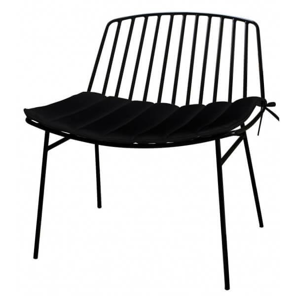 MATHI DESIGN TROPEZ - Fauteuil d'extérieur lounge Noir