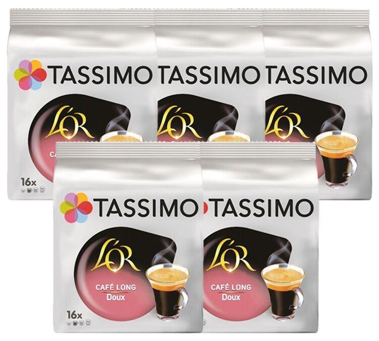 L Or Espresso Pack Dosettes Tassimo L'OR Café Long Doux - 5 x 16 T-disc