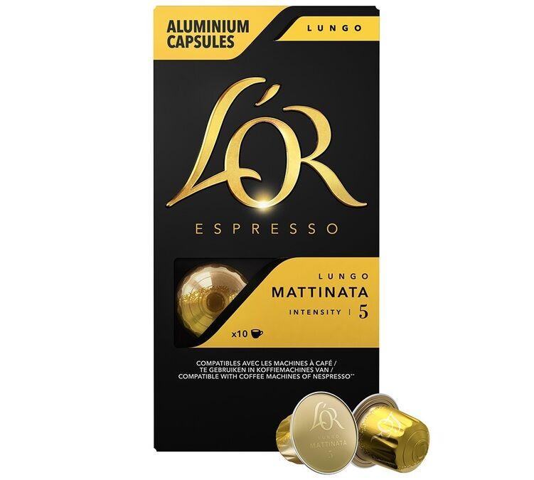 L Or Espresso L'or Espresso Lungo Mattinata compatibles Nespresso - 10 capsules