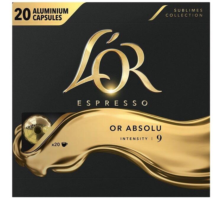 L Or Espresso L'or Espresso Or Absolu compatibles Nespresso® - 20 capsules