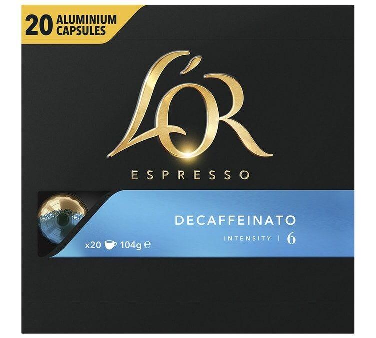 L Or Espresso L'Or Espresso Decaffeinato compatibles Nespresso® - 20 capsules