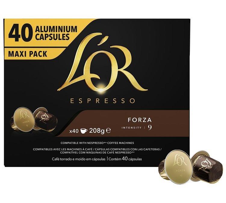 L Or Espresso L'or Espresso Forza compatibles Nespresso® - 40 capsules