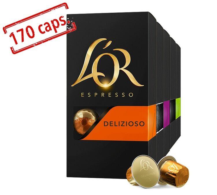 L Or Espresso Pack découverte Grand Assortiment capsules compatibles Nespresso® - 17 x 10 - L'Or Espresso