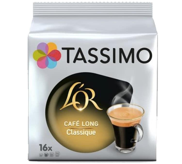 L Or Espresso Dosettes Tassimo L'OR Café long Classique - 16 T-disc