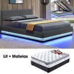 Matelas + Sommier AVA et matelas Pure 160 gris Le pack de lit double... par LeGuide.com Publicité