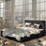 Lit coffre sommier relevable design GRAND - Couleurs - PU Noir, Tailles... par LeGuide.com Publicité