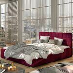 Lit coffre sommier relevable design GRAND - Couleurs - Tissu Bordeaux,... par LeGuide.com Publicité