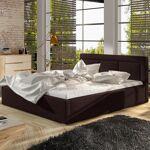 Lit coffre sommier relevable design BELLUNO - Couleurs - Tissu Marron,... par LeGuide.com Publicité