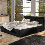Lit coffre sommier relevable design BELLUNO - Couleurs - PU Noir, Tailles... par LeGuide.com Publicité