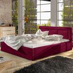 Lit coffre sommier relevable design BELLUNO - Couleurs - Velours Bordeaux,... par LeGuide.com Publicité