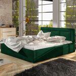 Lit coffre sommier relevable design BELLUNO - Couleurs - Velours Vert,... par LeGuide.com Publicité