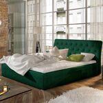 Lit coffre sommier relevable design Milano - Couleurs - Tissu vert ,... par LeGuide.com Publicité