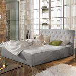 Lit coffre sommier relevable design Milano - Couleurs - Tissu Gris clair,... par LeGuide.com Publicité