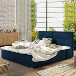 Lit coffre sommier relevable design LATINA - Couleurs - Tissu Bleu, Tailles... par LeGuide.com Publicité