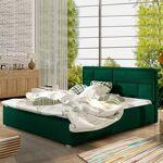 Lit coffre sommier relevable design LATINA - Couleurs - Tissu vert ,... par LeGuide.com Publicité