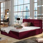 Lit coffre sommier relevable design ROSANO - Couleurs - Tissu Bordeaux,... par LeGuide.com Publicité