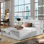 Lit coffre sommier relevable design ROSANO - Couleurs - PU Blanc, Tailles... par LeGuide.com Publicité