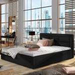 Lit coffre sommier relevable design ROSANO - Couleurs - PU Noir, Tailles... par LeGuide.com Publicité