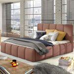 Lit coffre sommier relevable design EDVIGE - Couleurs - Tissu Rose ,... par LeGuide.com Publicité