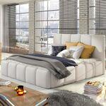 Lit coffre sommier relevable design EDVIGE - Couleurs - PU Blanc, Tailles... par LeGuide.com Publicité