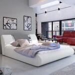 Lit coffre sommier relevable design FLAVIO - Couleurs - PU Blanc / Gris... par LeGuide.com Publicité