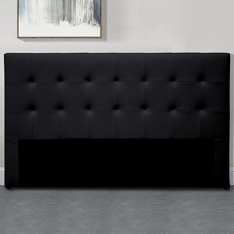 Tête De Lit Capitonnée Capitole - Couleurs - Noir, Tailles tête de lit - 140 cm