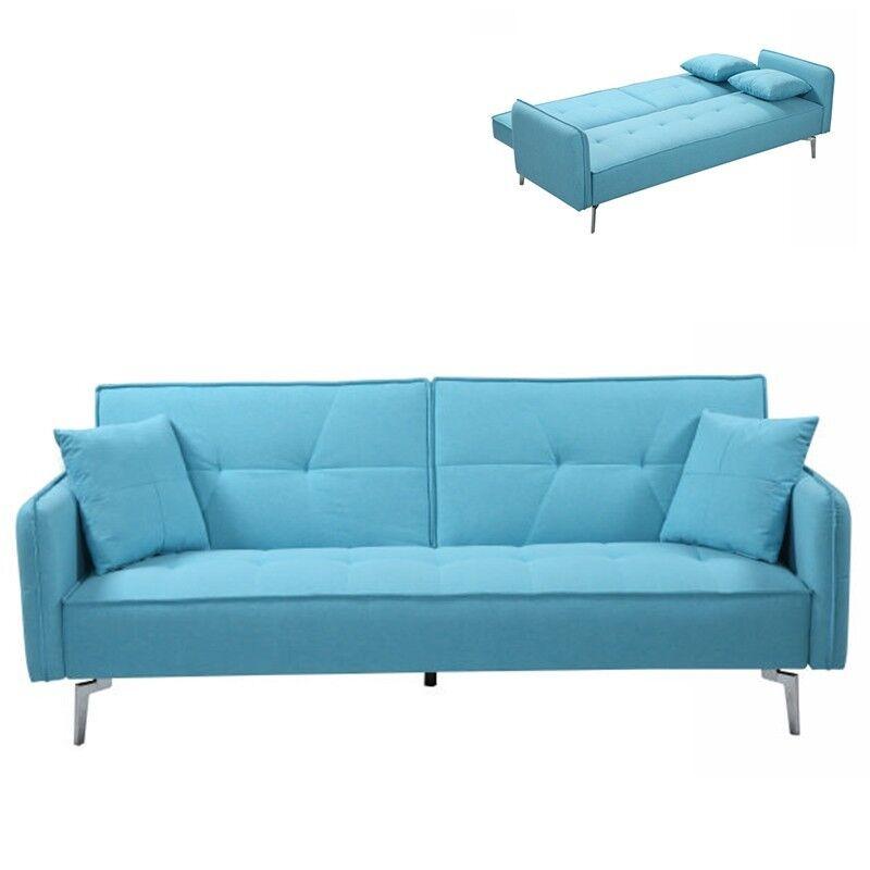 Canapé Convertible Double 2-3 Places Avec Dossier Inclinable STUDIO - Couleurs - Turquoise